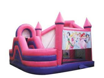 BIBC-066-Princess-Bouncy-Castles-For-Sale-With-Slide